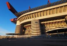 Stadio Giuseppe Meazza som gemensamt är bekant som San Siro, är en fotbollsarena i Milan, Italien, som är hemmet av A C Milan och Fotografering för Bildbyråer