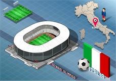 Stadio isometrico, Olimpico, Roma, Italia Immagini Stock Libere da Diritti