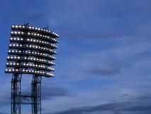 Stadio light. Light on a stadium, night sky Stock Photography