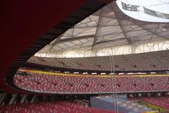 Stadio nazionale di Pechino (nido dell'uccello) Fotografie Stock Libere da Diritti