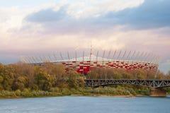 Stadio nazionale a Varsavia Fotografia Stock Libera da Diritti
