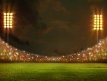 Stadio nella rappresentazione delle luci 3D illustrazione di stock