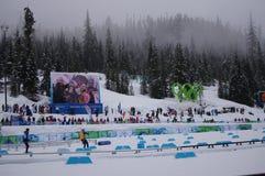 Stadio nordico di corsa con gli sci a Vancouver2010 Fotografia Stock Libera da Diritti