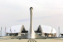 Stadio olimpico di Fisht e della torcia, Soci, Russia Fotografia Stock Libera da Diritti