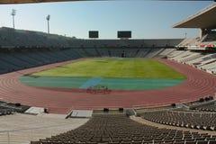 Stadio olimpico di Montjuic Fotografie Stock Libere da Diritti