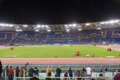 Stadio Olimpico at Diamond League. Spectators at Diamond League on Stadio Olimpico  Olympic stadium  in Rome, Italy in 2016 Stock Photos
