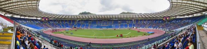 Stadio Olimpico at Diamond League. Spectators at Diamond League on Stadio Olimpico  Olympic stadium  in Rome, Italy in 2016 Stock Image