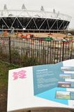 Stadio olimpico Londra 2012 Fotografie Stock