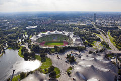 Stadio olimpico Monaco di Baviera Fotografia Stock Libera da Diritti