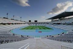 Stadio olimpico Montjuic Fotografia Stock