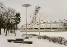 Stadio olimpico a Montreal fotografia stock libera da diritti