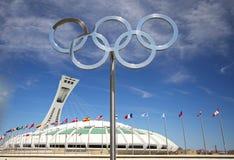 Stadio olimpico a Montreal Immagini Stock Libere da Diritti