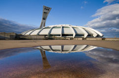 Stadio olimpico a Montreal Immagini Stock
