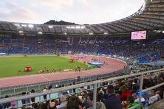 Stadio Olimpico. Spectators at Diamond League on Stadio Olimpico  Olympic stadium  in Rome, Italy in 2016 Royalty Free Stock Photos