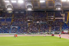 Stadio Olimpico. Spectators at Diamond League on Stadio Olimpico  Olympic stadium  in Rome, Italy in 2016 Stock Photography