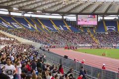 Stadio Olimpico. Spectators at Diamond League on Stadio Olimpico  Olympic stadium  in Rome, Italy in 2016 Royalty Free Stock Images