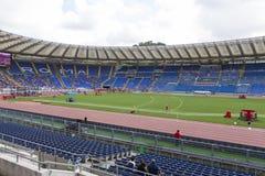 Stadio Olimpico. Spectators at Diamond League on Stadio Olimpico  Olympic stadium  in Rome, Italy in 2016 Stock Image