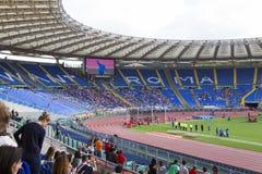 Stadio Olimpico. Spectators at Diamond League on Stadio Olimpico  Olympic stadium  in Rome, Italy in 2016 Royalty Free Stock Photography