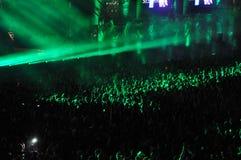 Stadio in pieno con la folla Immagini Stock