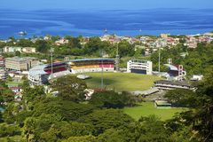 Stadio a Roseau, Dominica Fotografia Stock