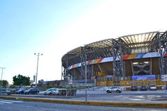 Stadio San Paolo of Napoli. The new look of Stadio San Paolo for the Universiadi event, photo taken in June 2019 by Borfra stock images