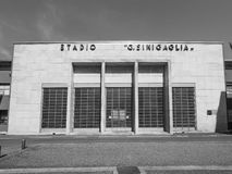 Stadio Sinigaglia stadium in Como in black and white. COMO, ITALY - CIRCA APRIL 2017: Stadio Giuseppe Sinigaglia stadium in black and white Stock Images