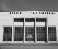 Stadio Sinigaglia stadium in Como in black and white. COMO, ITALY - CIRCA APRIL 2017: Stadio Giuseppe Sinigaglia stadium in black and white Stock Photos