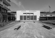 Stadio Sinigaglia stadium in Como in black and white. COMO, ITALY - CIRCA APRIL 2017: Stadio Giuseppe Sinigaglia stadium in black and white Royalty Free Stock Photos