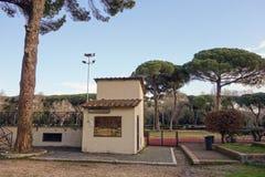 Stadio a Terme di Caracalla (bagni di significato di Caracalla) in Ro Immagine Stock