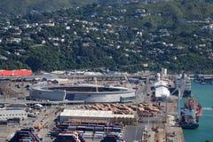 Stadio Wellington, Nuova Zelanda di Westpack e dei bacini Fotografia Stock