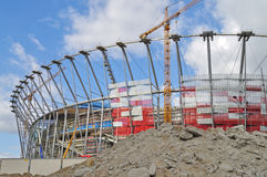 Stadion in aanbouw Stock Fotografie