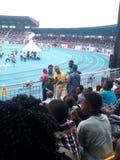 Stadion Asaba2018 arkivbilder