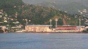 Stadion auf Seeküste St- George` s, Grenada stock video footage