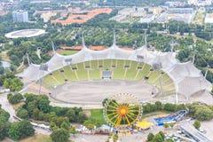 Stadion av Olympia parkerar i Munich, Tyskland Royaltyfri Bild