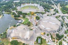 Stadion av Olympia parkerar i Munich, Tyskland Arkivfoto