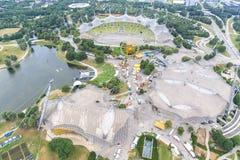 Stadion av Olympia parkerar i Munich, Tyskland Arkivfoton