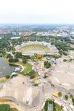 Stadion av Olympia parkerar i Munich, Tyskland Royaltyfria Bilder