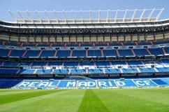 Stadion av Real Madrid Santiago Bernabeu Royaltyfria Bilder