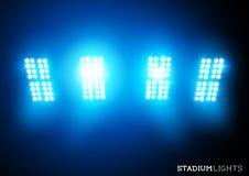 Stadion beleuchtet (Flutlichter) Stockbild