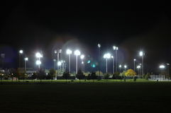 Stadion bij nacht Stock Foto's