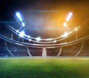 Stadion in 3d lichten en flitsen stock illustratie