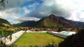 Stadion in de Heilige Vallei, Cusco stock foto