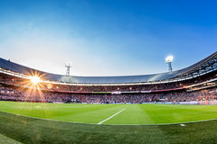 Stadion de Kuip Feyenoord överblick Arkivfoto