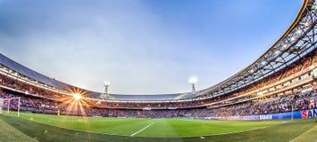 Stadion de Kuip Feyenoord överblick Arkivfoton