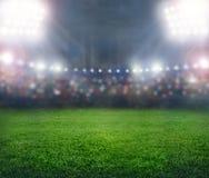 Stadion in den Lichtern lizenzfreie stockfotos