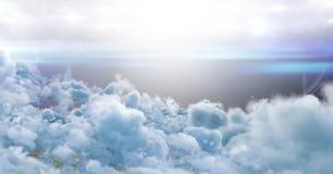 Stadion des amerikanischen Fußballs in den Wolken Stockfotografie