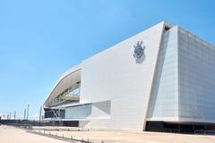 Stadion des Sport Club Corinthians Paulista in Sao Paulo, Brasilien lizenzfreie stockbilder