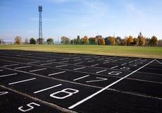 Stadion in een kleine provinciale stad Stock Foto