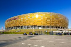 Stadion Energa Gdansk Arkivfoto