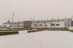 Stadion för AFC Bournemouth i snö Royaltyfri Foto